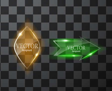 Glass vector button plane. Easy editable background Ilustração