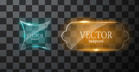 Glass button plane. Easy editable background Vector Illustratie