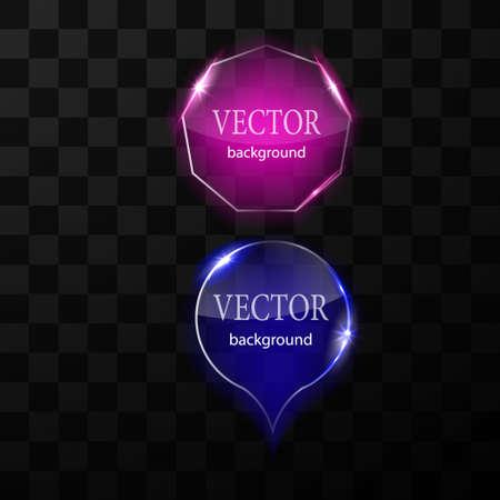 Glass vector button plane. Easy editable background 向量圖像
