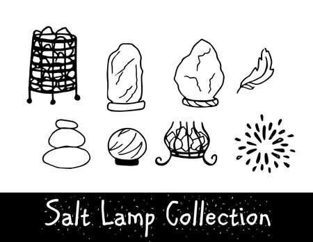 Unique Line Style Vector Salt Lamp collection