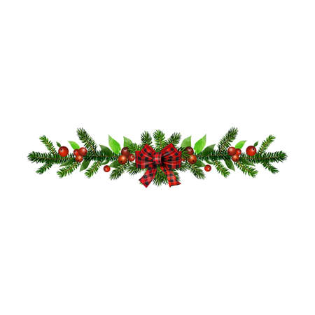 Christmas Holly brunches decoration vector