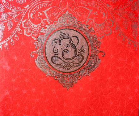 Le Dieu Hindou-Ganesha : Dieu Hindou Ganesh, est le Seigneur de la Bonne Fortune qui assure la prospérité, la fortune et le succès. Ganesh Puja. Ganesh Chaturthi. Il peut être utilisé comme conception de carte de mariage, impression de photo, décoration d'intérieur, pour les tatouages et les cartes postales.