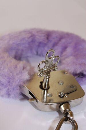 cuff: purple cuff Stock Photo