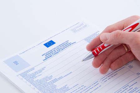 fill in application by pen