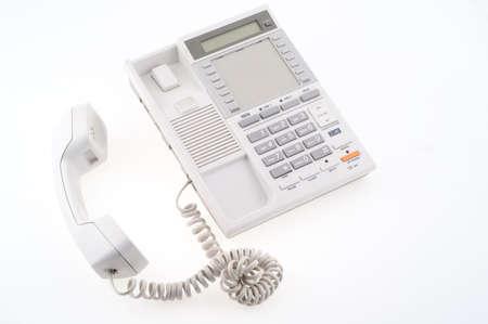 grey phone isolated on white