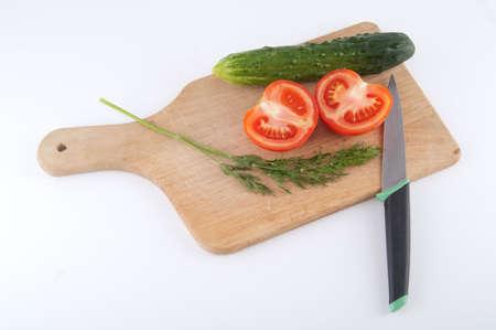 different vegetables isolated on white Standard-Bild