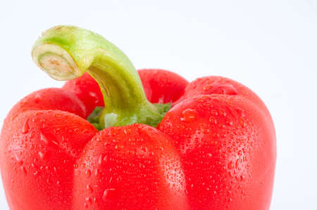 red fresh pepper isolated on white