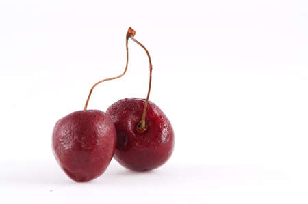 couple of cherry isolated on white