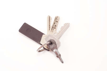 bunch of keys isolated on white
