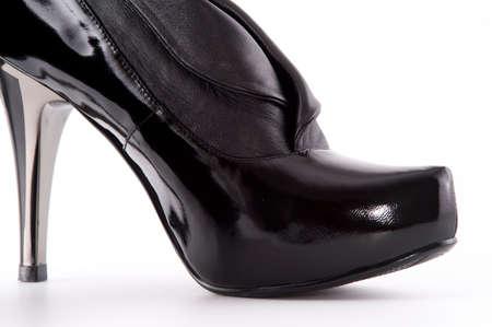 stylish black high heels shoes photo