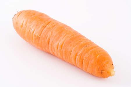 fresh carrot isolated on white