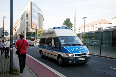 eliminating: German police patrol the streets of Dresden to eliminating crime Editorial
