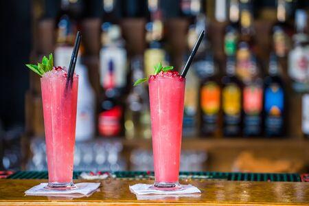 Summer beach cocktail at the bar photo