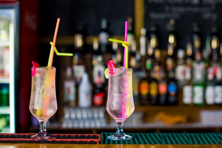 Summer beach cocktail at the bar
