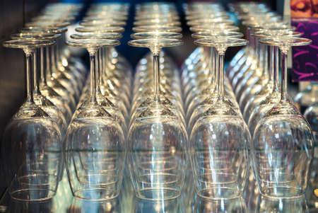 degustation: Wine glasses of degustation on the table Stock Photo