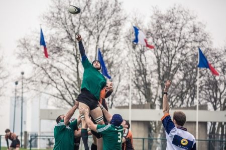 Paris, France - 13 January: Rugby game  Stock Photo - 17393024