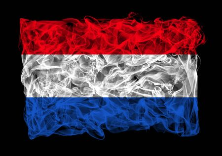 The flag of Netherlands consists of a smoke photo