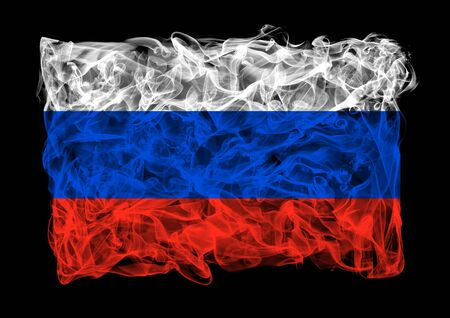 The flag of Russia consists of a smoke photo