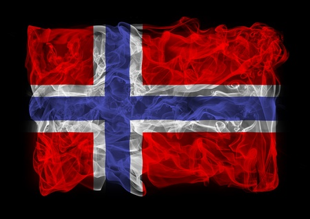 The flag of Norway consists of a smoke photo