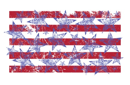 u s  flag: Creative image of the U S  flag in a grunge style