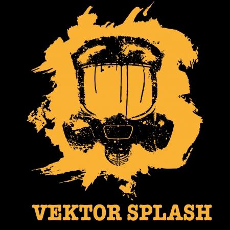 Design ornament gas mask of splattered paint Stock Vector - 20703660