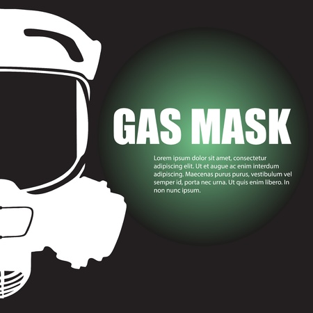 toxins: White gas mask symbol with your text Illustration