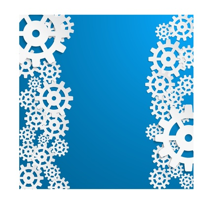 illustration of abstract design with in cog wheel and copy space.  Vector