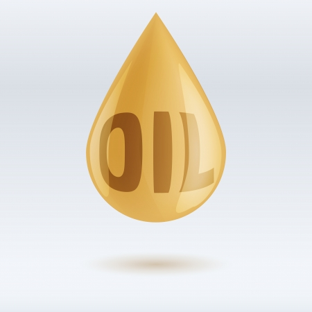 drop of oil and write isolated on white background.  editable and isolated. Vector