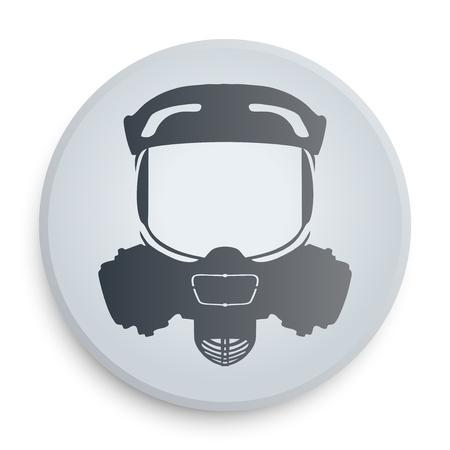 Symbol protective respirator on a white icon on a white background. Stock Photo - 22060588