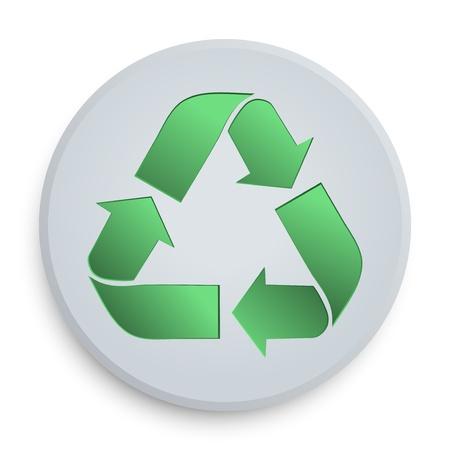 Symbol recycle on a white icon on a white background. Stock Photo - 22060758