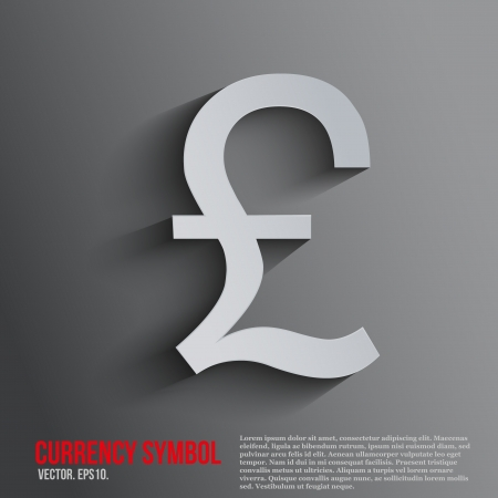 Pound currency symbol on a dark background with space for text.  Illustration