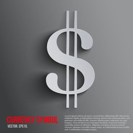 dollars: Dollar currency symbol on a dark background with space for text