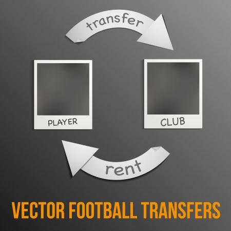 traslados: Ilustraci�n sobre el tema de las transferencias de f�tbol.