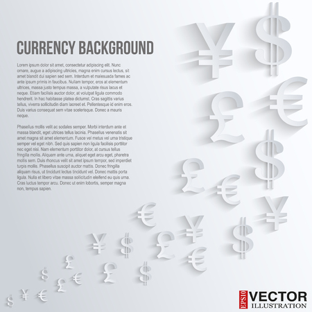 currency exchange: Currency symbol on a white background