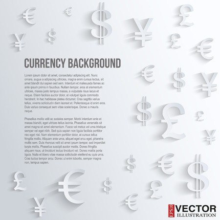 yen sign: Currency symbol on a white background