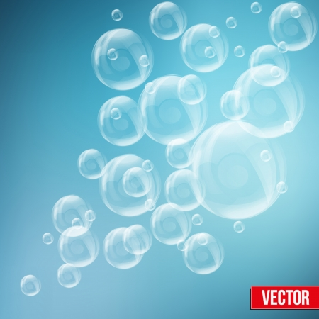 soap bubbles: SPA aqua background with soap bubbles in pastel tones. Vector illustration of relax and recreational. Isolated and editable.