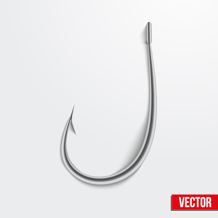 Realistic fishing hook vector illustration. Bright symbols. Editable and isolated. Vettoriali