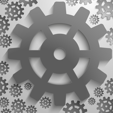 illustration of abstract design with in cog wheel and copy space. illustration