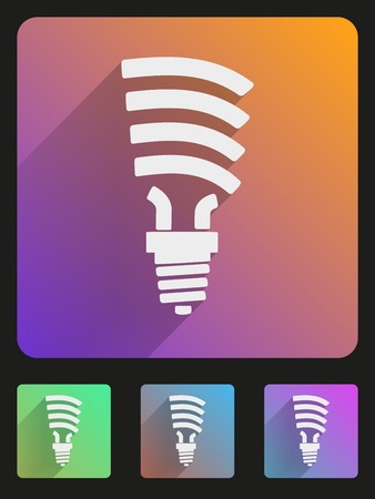 luminance: Basic bulb eco lamp simple Flat icon set for Web and Mobile Application. Illustration of technology. Vector, editable and isolated. Illustration