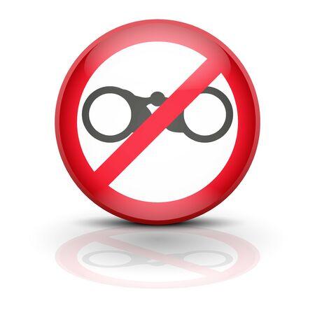nadzór: Symbol lornetki. Zarejestruj zakaz podsłuch, nadzoru i szpiegostwo. Brak kontroli, nie oskarżenie, bez spyware. Ilustracji wektorowych, edycji i samodzielnie. Ilustracja