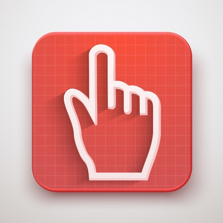 Cursor icon click mouse hand. Vector Illustration for Web and Mobile Application. Premium design. Stock Vector - 24027285