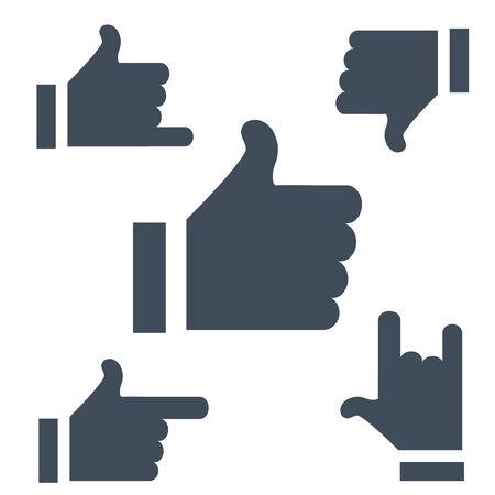 buff: Las versiones actualizadas de los s�mbolos Likes botones para usar el Internet o aplicaciones.