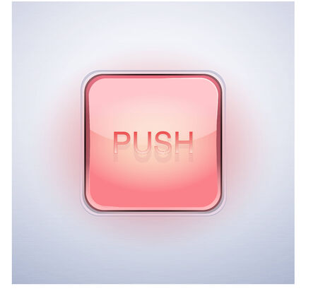 Glass effect pushbutton START. Vector Illustration, editable and isolated. Vector