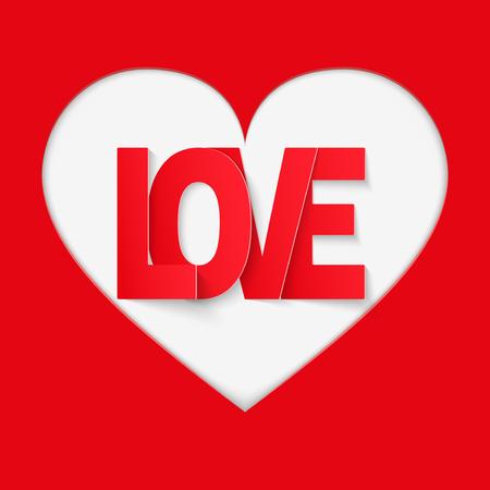 papier a lettre: Fond avec du papier rouge, lettre d'amour. Vector illustration. Amour ou le th�me de la m�decine. Modifiable et isol�. Illustration