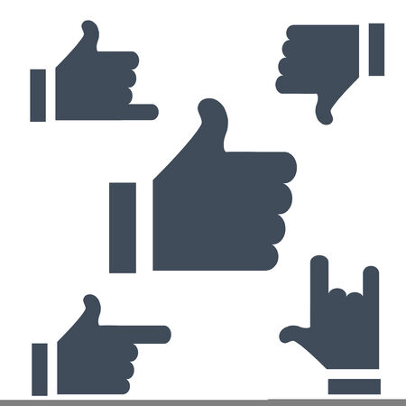 cordial: New symbols Likes buttons to use the Internet or applications. Stock Photo
