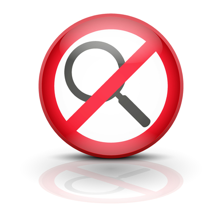 Anti spyware icon symbol illustration. Sign ban wiretapping, surveillance and espionage. Prohibited surveillance. Stock Illustration - 25474842