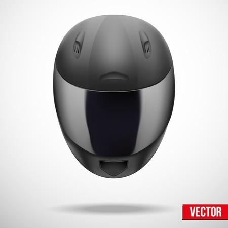 Luz del casco de la motocicleta de color gris de alta calidad. Vector Ilustración deporte
