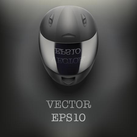 Background of High quality light gray motorcycle helmet. Sport vector Illustration Vector