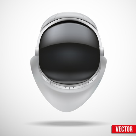 Astronaut helmet with big glass and reflection vector. Vector