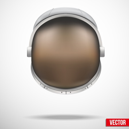 Astronaut helmet with big glass and reflection vector.